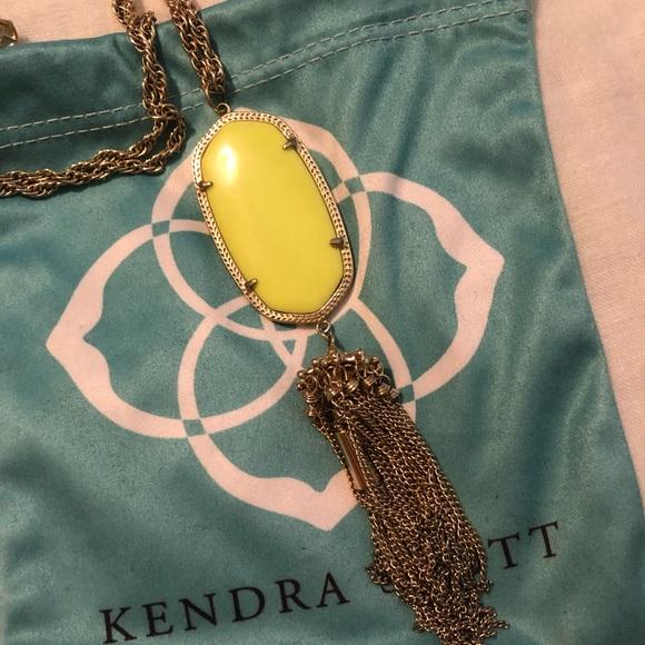 Kendra Scott Jewelry - Rare neon Yellow Kendra Rayne necklace